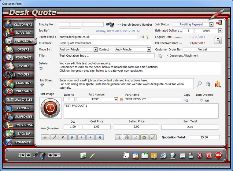 Desk Quote Professional 7.0.1 full